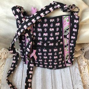 Vera Bradley Pink Elephants Crossbody purse bag